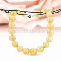 Ожерелье из лимонного натурального балтийского янтаря