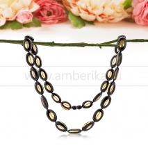 Ожерелье из натурального зеленого балтийского янтаря