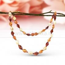 """Ожерелье из натурального балтийского янтаря """"микс"""""""