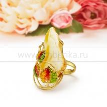 Кольцо из серебра с Императорским балтийским янтарем