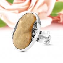 "Кольцо ""Модерн"" из серебра с лимонным балтийским янтарем"