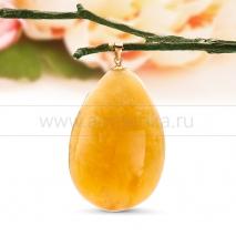 Кулон из золота с балтийским янтарем