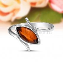 Кольцо из серебра с природным балтийским янтарем Зарина
