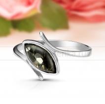 Кольцо из серебра с природным балтийским янтарем Светлана