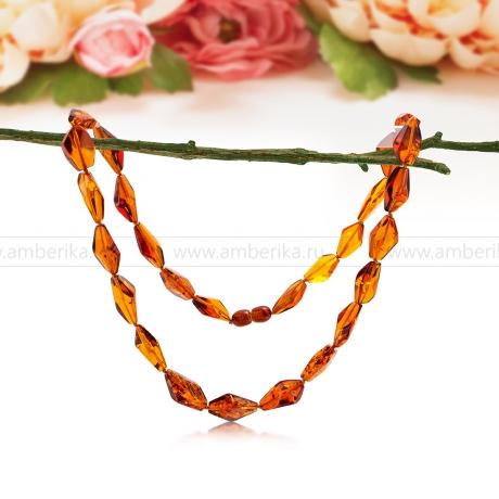 Ожерелье из коньячного балтийского янтаря