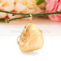 """Кулон """"Солнце Балтики"""" из золота 585 пробы с природным балтийским янтарем."""