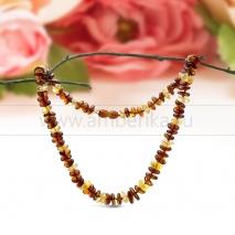 """Ожерелье из натурального балтийского янтаря """"микс"""" Зарина"""