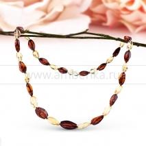 Ожерелье из балтийского природного янтаря. Лидия
