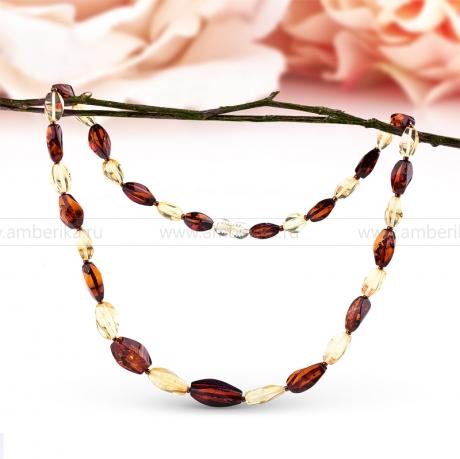 Ожерелье из балтийского природного янтаря.