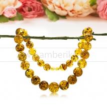Ожерелье из золотистого балтийского янтаря