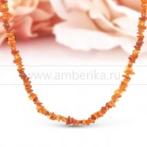 Ожерелье из лечебного необработанного природного янтаря