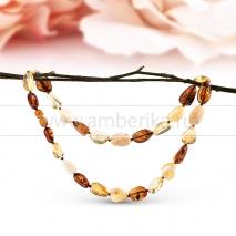 """Ожерелье из балтийского природного янтаря """"микс"""" Кира"""