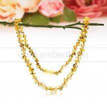 Ожерелье из золотистого балтийского янтаря Дарья