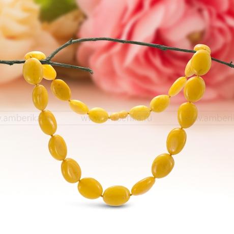 Ожерелье из лимонного балтийского природного янтаря