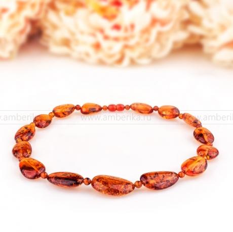 Ожерелье из балтийского природного янтаря