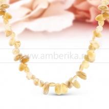 Ожерелье из балтийского природного янтаря Дина