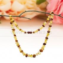 """Ожерелье из натурального балтийского янтаря цвета """"микс"""""""