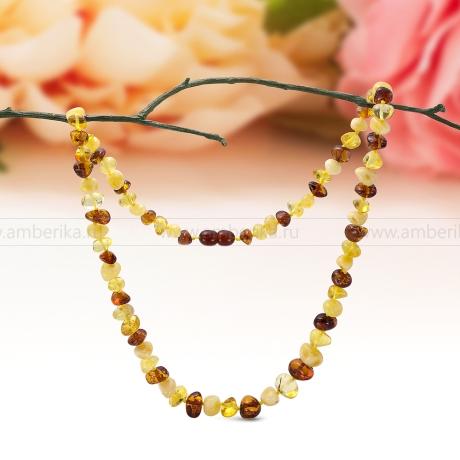 Ожерелье из натурального балтийского янтаря цвета