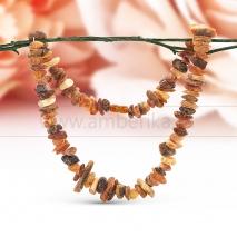 """Ожерелье из лечебного необработанного балтийского янтаря """"микс"""""""