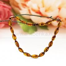 Ожерелье из натурального коньячного балтийского янтаря Лилия