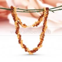 Ожерелье 2-рядное из балтийского природного янтаря