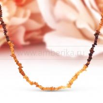 Бусы длинные из природного балтийского янтаря Эвелина